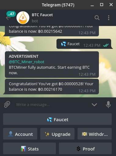 NEW - @BTC_Faucet_bot Reviews: SCAM or LEGIT? | BeerMoneyForum com