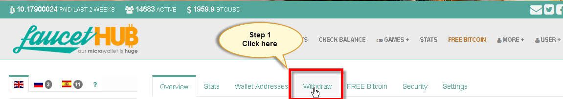 Tutorial] How to withdraw funds from Faucethub micro-wallet
