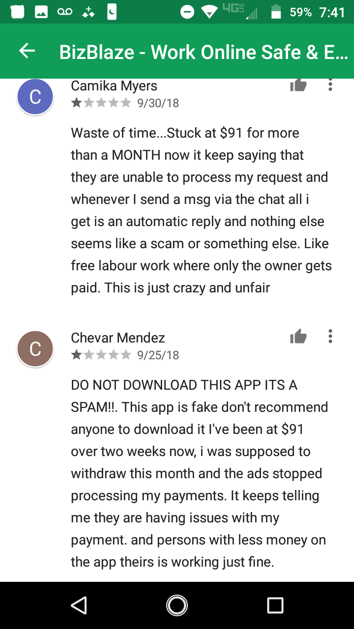 Closed - BizBlaze App Reviews: SCAM or LEGIT? | BeerMoneyForum com