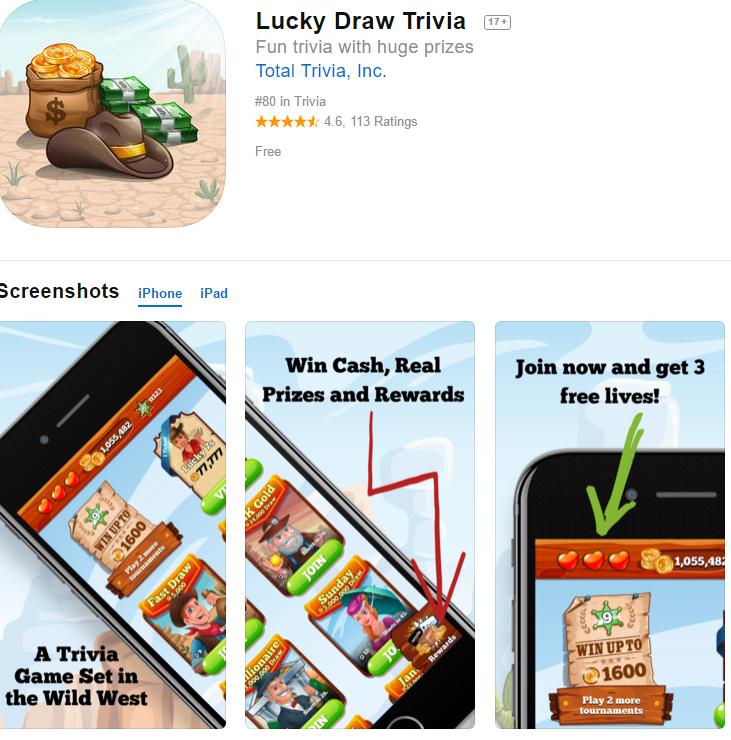 LEGIT - Lucky Draw Trivia App Reviews: SCAM or LEGIT