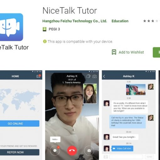 NiceTalk Tutor App reviews