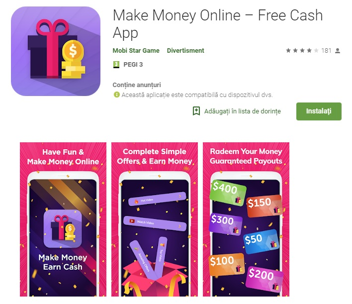 Earn money online free app